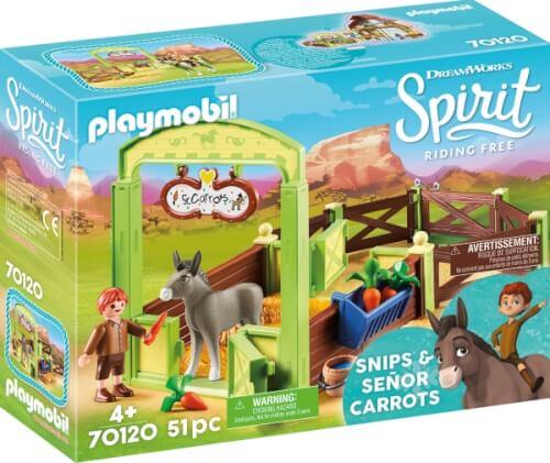 PLAYMOBIL 70120 Pferdebox ''Snips & Herr Karotte''