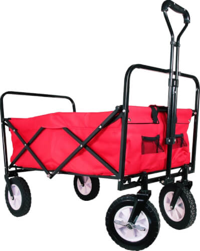 Outdoor active Bollerwagen aus Metall, faltbar