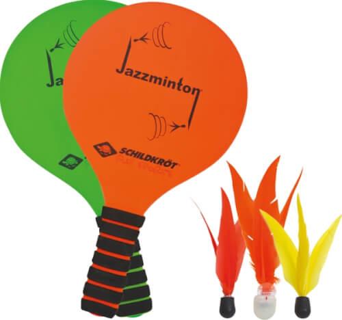 Schildkröt Jazzminton-Set (2 Schläger, 3 Birdies)