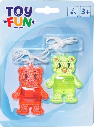 Toy Fun Reflektor Bären 2 Stück