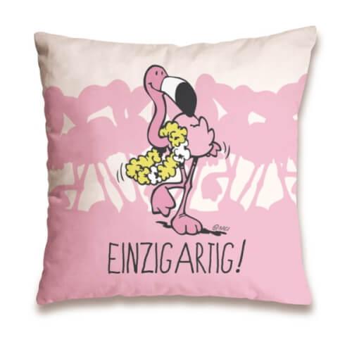 NICI Baumwollkissen Flamingo Einzigartig, ca. 37x37 cm