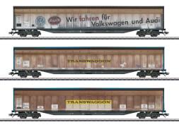 Märklin 48063 H0 Schiebewandwg.-Set Transwaggon, V
