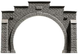 H0 Tunnel-Portal 2gl. Steinm.Pro