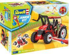 REVELL Junior Kit Traktor mit Lader und Figur