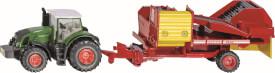 SIKU 1808 FARMER - Traktor mit Kartoffelroder, 1:87, ab 3 Jahre