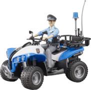 Bruder 63010 Polizei Quad mit Polizistin und Ausstattung, ab 4 Jahren, Maße: 9,4 x 11,4 x 23,1 cm, Kunststoff