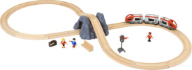 BRIO World 33773 Eisenbahn Starter Set A  Die perfekte erste Holzeisenbahn mit Tunnel und Figuren Kleinkinderspielzeug