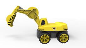 BIG Power Worker Maxi-Digger, Kunststoff, bis 50 kg, ca. 73x32x30 cm, gelb, ab 3 Jahre