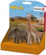 Schleich 14798 Afrikanisches Elefantenbaby und Giraffenbaby (L-Pack)