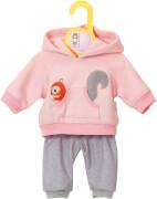 Zapf BABY born® Kleider Kollektion Dolly Moda Jogginganzug pink, Größe 38-46cm, ab 3 Jahren
