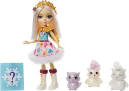 Mattel GJX46 Enchantimals Odele Owl Puppe, Cruise & Familie