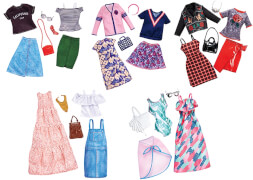 Mattel FKT27 Barbie Fashions 2er-Pack