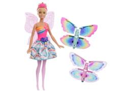 Mattel FRB08 Barbie Regenbogen Magische Flügel-Fee Puppe