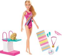 Mattel GHK23 Barbie #Traumvilla Abenteuer Swim 'n Dive Puppe