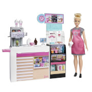 Mattel GMW03 Barbie Coffee Shop Spielset und Puppe