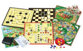 Schmidt Spiele 49147 Spielesammlung, 100 Spielmöglichkeiten, 2 bis 6 Spieler, ab 6 Jahre