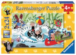 Ravensburger 08863 Puzzle Urlaub mit Maulwurf und seinen Freunden 2 x 24 T.