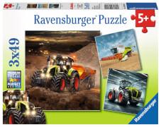 Ravensburger 09301 Puzzle CLAAS: Axion, Lexion, Xerion 3 x 49 Teile