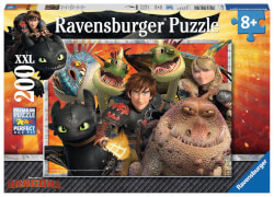 Ravensburger 12812 Puzzle Dreamworks Dragons Hicks, Astrid&die Drachen 200T.