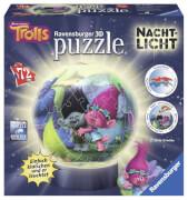 Ravensburger 121953  3D Puzzle-Ball Nachtlicht Dreamworks Trolls 72 Teile