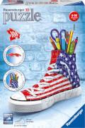 Ravensburger 125494 Puzzle 3D: Sneaker Flag Edition, 108 Teile