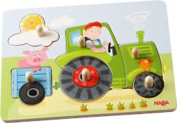 HABA - Greifpuzzle Peters Bauernhof, 6-teilig, ab 12 Monaten