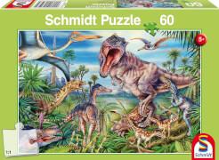 Schmidt Puzzle 56193 Bei den Dinosauriern, 60 Teile, ab 5 Jahre