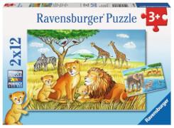 Ravensburger 076062 Kinderpuzzle: Elefant, Löwe & Co. 2 x 12 Teile