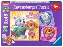 Ravensburger 08008 Puzzle: Bezaubernde Hundemädchen 3x49 Teile