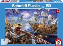 Schmidt Puzzle 56252 Abenteuer mit den Piraten, 150 Teile, ab 7 Jahre