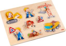 HABA - Greifpuzzle Baustellen-Welt, 8-teilig, ab 12 Monaten