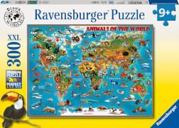 Ravensburger 13257 Puzzle Tiere rund um die Welt 300 Teile XXL