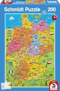 Schmidt Spiele Puzzle Deutschlandkarte mit Bildern 200 Teile