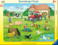 Ravensburger 05024 Puzzle: Sommertag auf dem Bauernhof 8-17 Teile