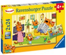 Ravensburger 05080 Puzzle Zuhause bei den Kid e Cats 2x20 Teile