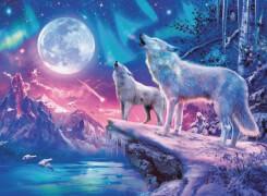 Ravensburger 14952 Puzzle: Wolf im Nordlicht, 500 Teile