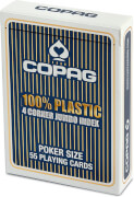 ASS COPAG® 100% Plastik Poker Jumbo Index blau.Kartenspiel