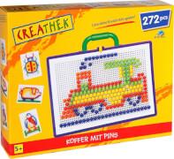 Creathek Koffer mit 272 Pins, Durchmesser 10 mm, ca. 31,1x25x5,5 cm, ab 5 Jahren