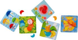 HABA - Zuordnungsspiel Farbenmonde, ca. 23x23 cm, ab 18 Monaten