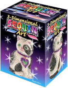 Sequin Art - Paillettenbild/-figur - 3D Sequin Katze