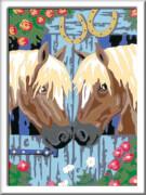 Ravensburger 28478 Malen nach Zahlen Treue Pferde