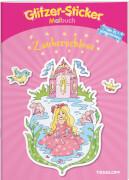 Glitzer-Sticker-Malbuch Zauberschloss, Broschiert, 32 Seiten, ab 5 Jahren