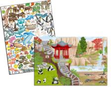 Depesche 10746 Create your ZOO, Malbuch mit Stickern