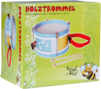 Boogie Bee Holztrommel mit 2 Sticks
