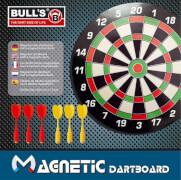 Bull's Magnetic Dartboard mit 6 Pfeilen