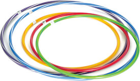Hula Hoop ca. 60 cm, farblich gestreift