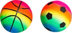 SpielMaus Outdoor Bälle Regenbogenfarbe #12,7 cm