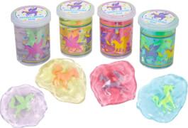 Knet-Schleim Glitter Einhorn 4 fach farblich sortiert