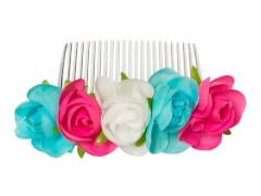 Haarkamm mit Blumen