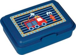 Die Spiegelburg -  Kleine Freunde Kleine Butterbrotdose Feuerwehr, ca 16 x 11 x 5 cm, blau